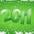 2011 in snowy background — Stock Photo
