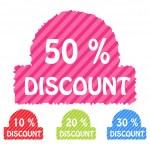 Set of discount icons — Stock Photo