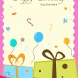 Birthday card - Stock fotografie