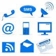 Stock Photo: Communiction icons