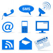 Communiction icons — Stock Photo