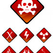 Warning sign icons — Stock Photo
