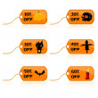 Halloween discount tags - Foto Stock