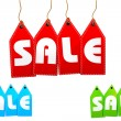 Set of sale tags — Foto Stock