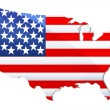 Flag of united states of america - Foto de Stock  