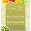 Abstract fruit text template - Stock Photo