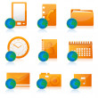 Office icon set — Foto Stock