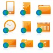 Office icon set — Stockfoto