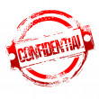 Grungy confidential stamp - Stock Photo