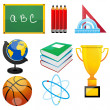 Set of education elements - Stock Photo