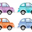 Set of colorful cars — Stock Photo
