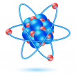 Atom molecule — Stock Photo #4164887