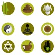 Set of spa icons — Stock Photo