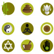 Set of spa icons - Stock Photo
