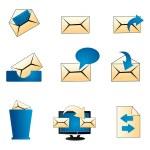 Mailing icons — Stock Photo