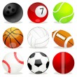 Stock Photo: Set of different sports balls