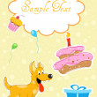 Puppy in birthday card — Stock Photo #4164984