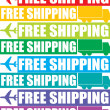 Colorful free shipping tag — Stock Photo