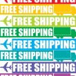 Stock Photo: Colorful free shipping tag
