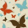 Retro butterfly background — Stock Photo