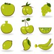 Royalty-Free Stock Photo: Fruit icon set