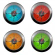 Set of compass icons - Stock Photo