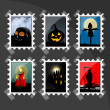 Stock Photo: Halloween stamp