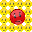 Smiley — Stockfoto