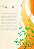 Floral text template — Stock Photo
