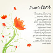 Swirly floral background with sample text — Stock Photo