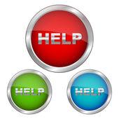 Set of help icons — Stock Photo