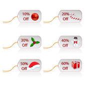 Jul försäljning taggar — Stockfoto