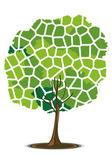 Mosaic pattern tree — Stock Photo