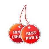 теги лучшие цены и лучший выбор — Стоковое фото