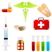 Set of medical icons — Stock Photo
