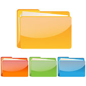 Set of colorful folder icon — Stock Photo