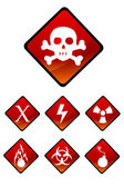 Warning sign icons — Stock Photo