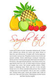 Fruity text template — Stock Photo