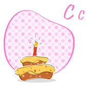 C for cake — Stock fotografie