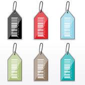 Etiquetas de código de barras multicolor — Foto de Stock