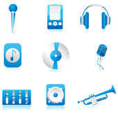 Set of musical component — Stock Photo