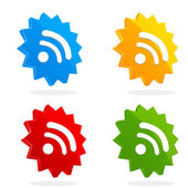 Set of rss icons — Stock Photo