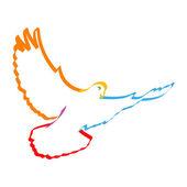 Colorful dove — Stock Photo