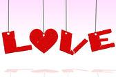 Wiszące miłości — Zdjęcie stockowe