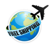 Free shipping with aeroplane — Stock Photo
