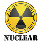 Nuclear symbol — Stock Photo
