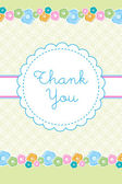 Thank you card — Foto de Stock