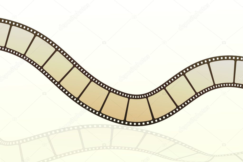 Illustration of vector film strip on isolated background — Stock Photo #4164343