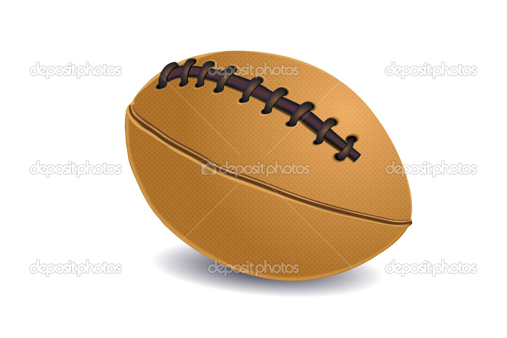Illustration of rugby ball on isolated background — Stock Photo #4164400