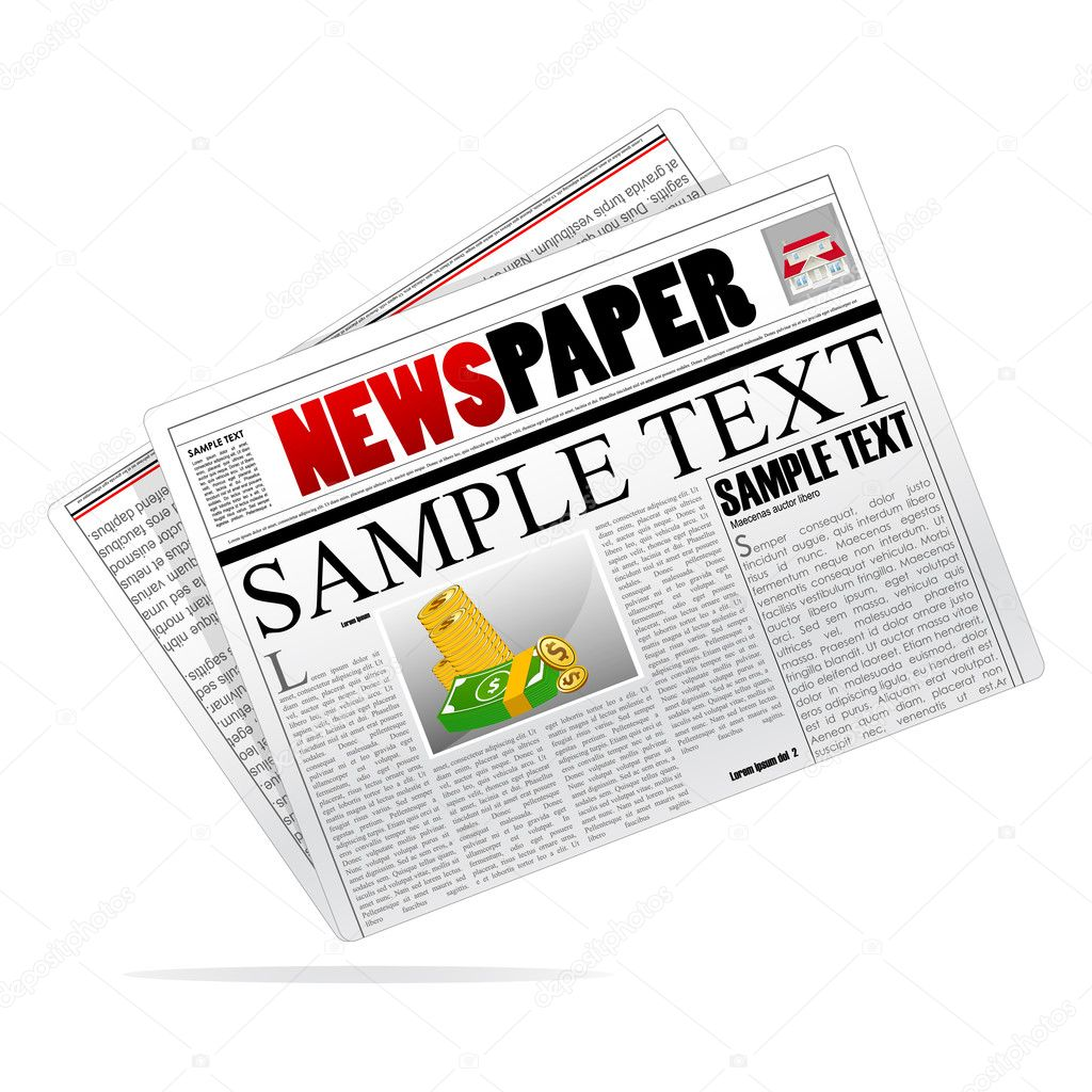 Illustration of vector newspaper on isolated background — Stock Photo #4164429
